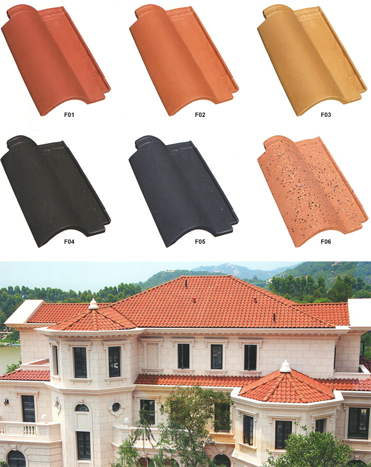 Ceramic roofing tile