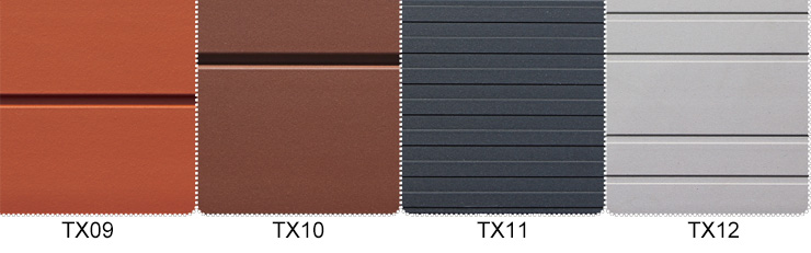 Superficie de textura de Terracota Rainscreen