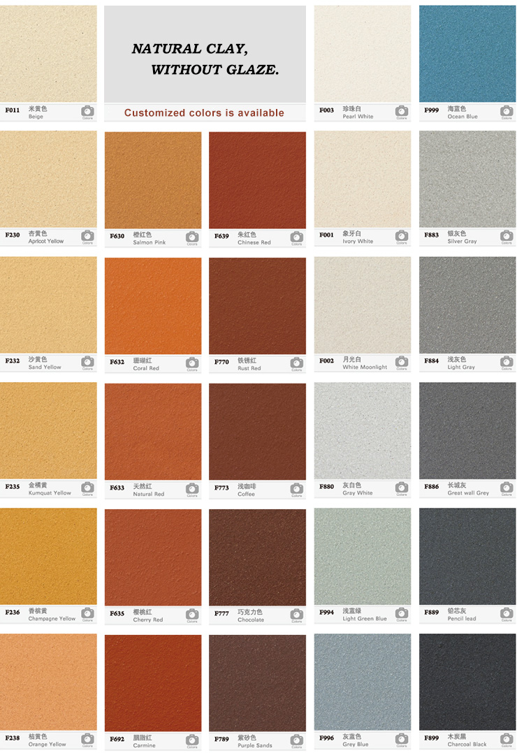 colors of terracotta facade panels
