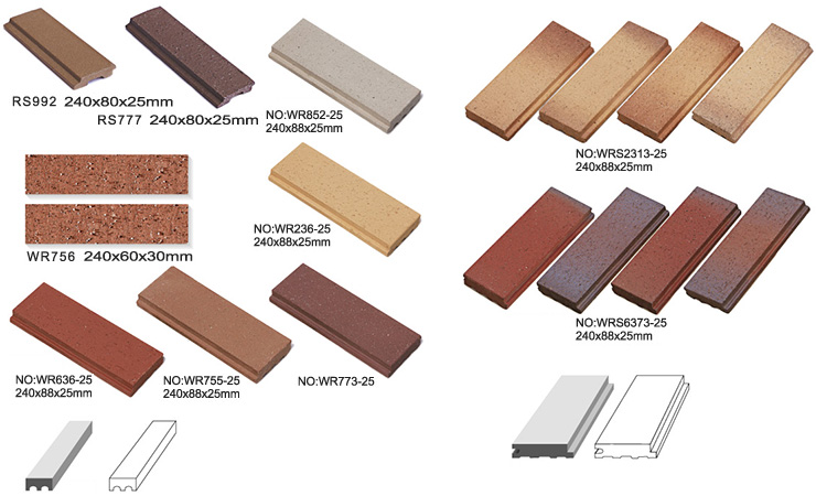 dry hang terracotta wall bricks