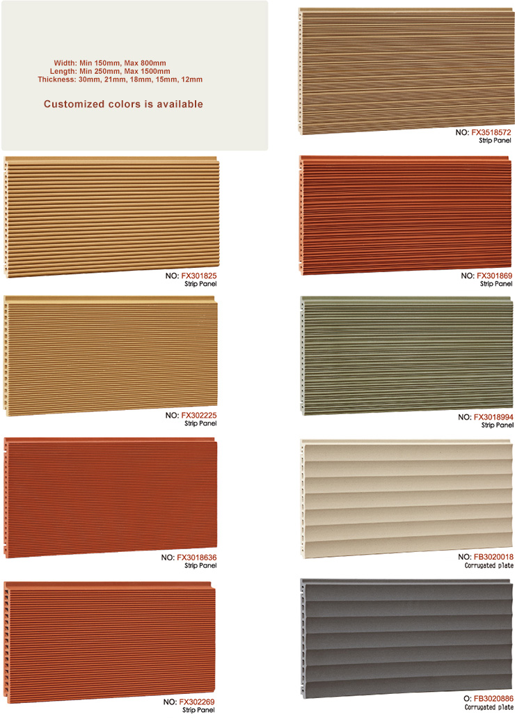 Special Shape of Terracotta Facade Cladding Panels