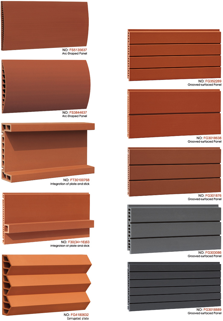 Special Shape Terracotta Facade Cladding Panels