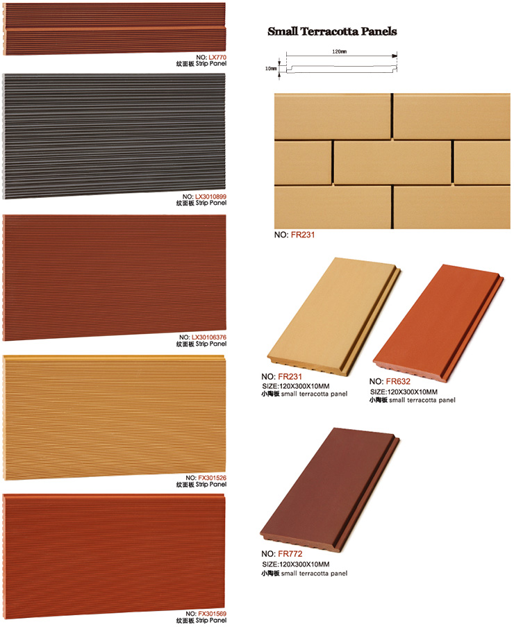 Lightweight Panel Clay Tile Cladding Terracotta Panel