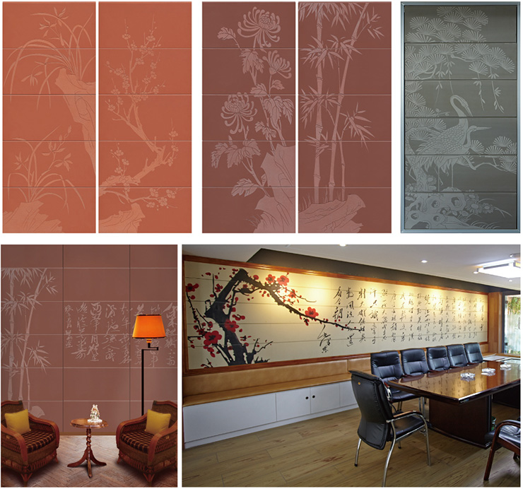 Engraved Panel of Wall Cladding Designs