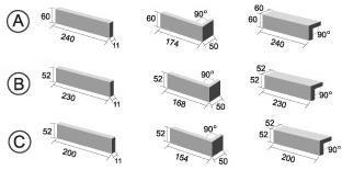 sizes of terracotta tile