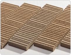 Linear Surface of Terracotta Tile