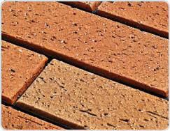 Flamed Surface of Terracotta Tile