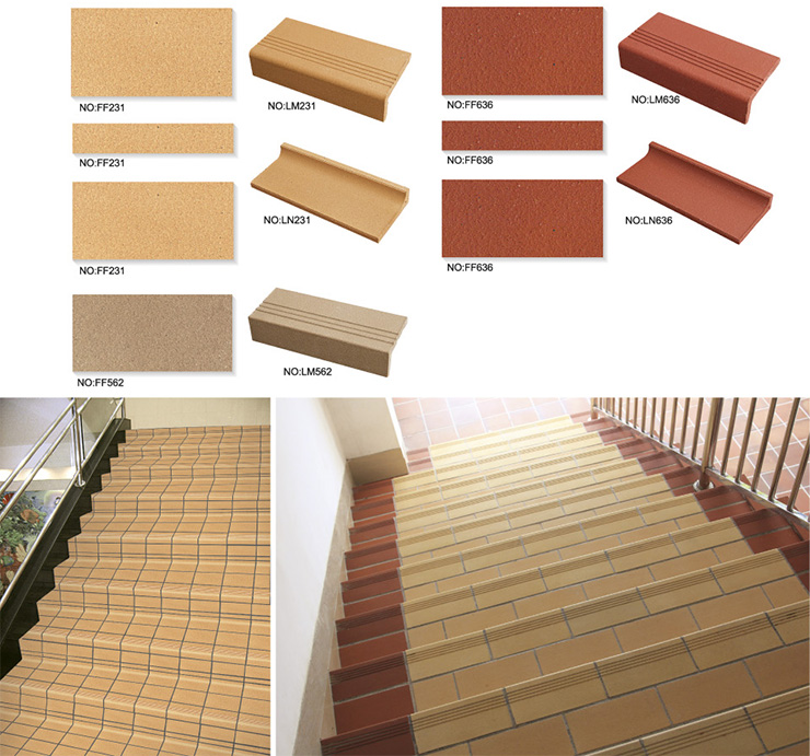 terracotta Staircase Tile