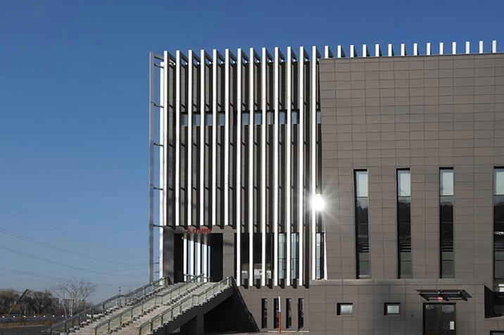 LOPO Grey Terracotta Panel Cladding Project--The Citizen Fitness Center