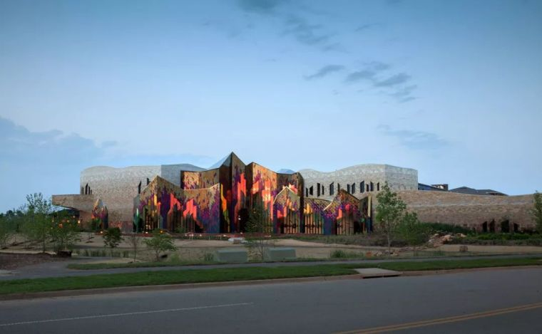 Architectural design of the burning prairie Museum in the United States
