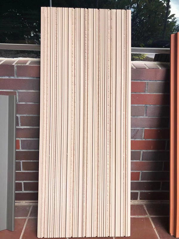 line surface terracotta panel