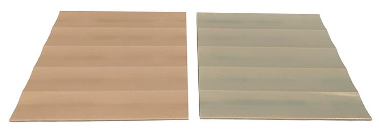 Corrugated terracotta panel