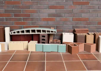 Facciata dell'edificio modificabile —— Baguette in terracotta LOPO