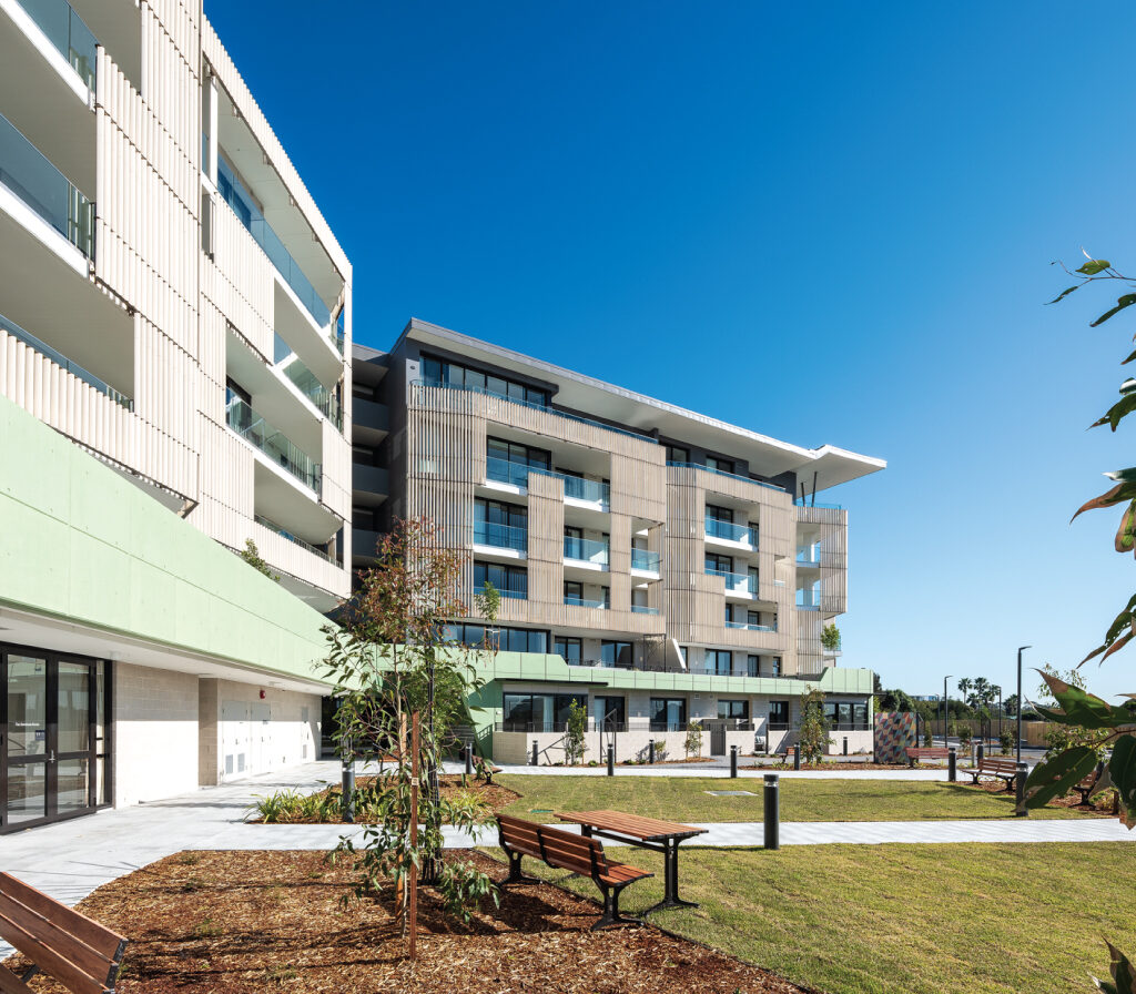 Application of LOPO Terracotta Baguettes in Growthbuilt Anglicare Woolooware Shores