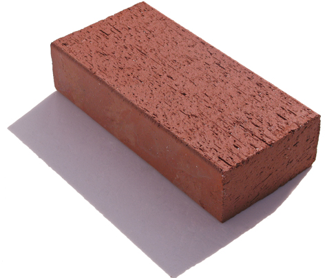 Telha de tijolo de argila vermelha em terracota para pavimentação