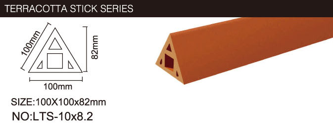 Hollow Structure Terracotta Wall Clay Baguette