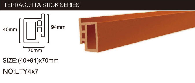 Building Material Wall Terracotta Wall Stick