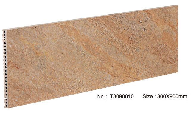 Duurzaam exterieur decoratief keramisch gordijnmuurpaneel