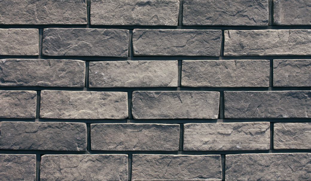 Grey Thin Clay Split Brick Cladding