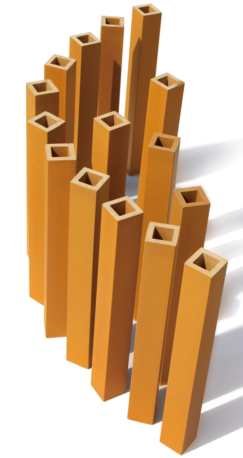 Square Shape Exterior Wall Terracotta Baguette