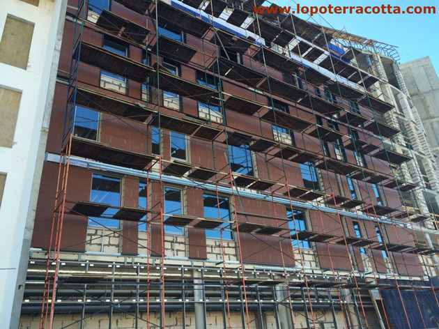 Newest LOPO Terracotta Facade Panel And Baguette Project In Russia