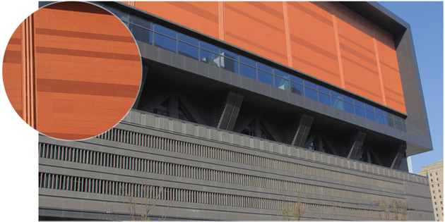 The Perfect Deduction of LOPO Terracotta rainscreen