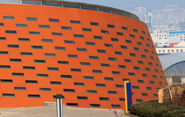LOPO Terracotta Rainscreen Cladding Project - 산동 위해 북 역
