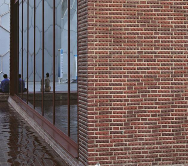 مشروع بلاط الجدار الفخاري الأحمر LOPO - متحف هامبورغ