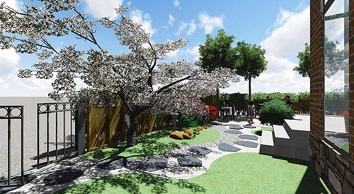 LOPO Künstliche Ziegel Fliesen in der Villa Area Project verwendet
